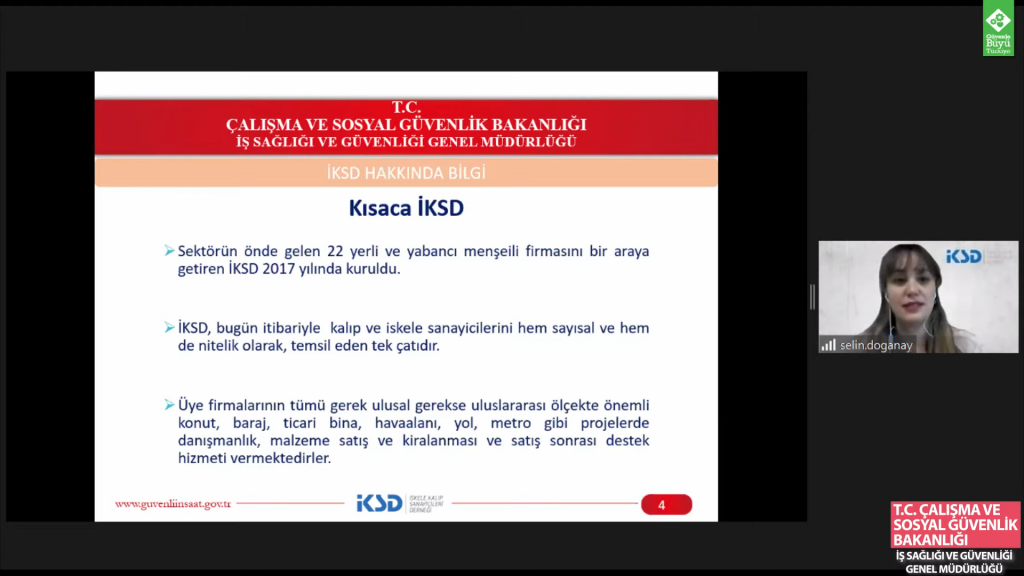 """28 Nisan 2021 T.C. ÇSGB, İş Sağlığı ve Güvenliği Genel Müdürlüğü """"Yapı Sektöründe Yüksekte Çalışma Kaynaklı İş Kazaları ve Çözüm Önerileri"""""""